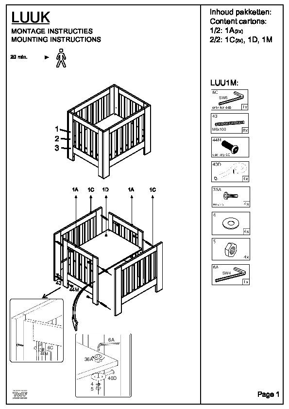 BOX LUUK (zwarte schroeven)